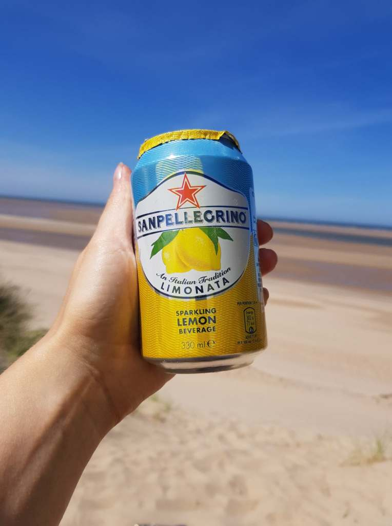 San Pellegrino on the beach