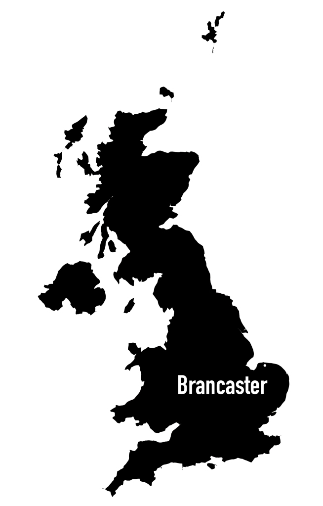Map of UK, Brancaster