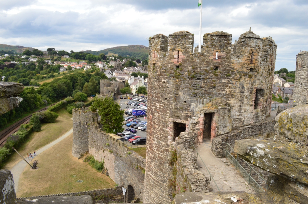 Conwy castle and town centre