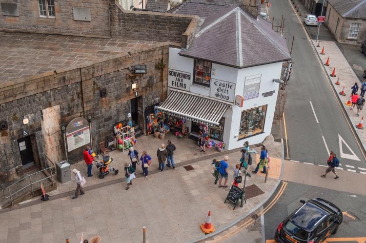 gift shop at Caernarfon Castle