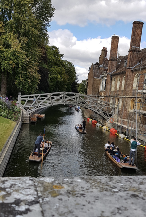 Cambridge, punting on the river